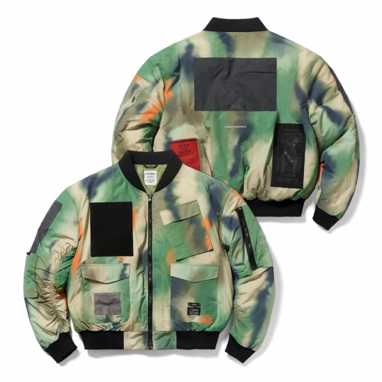 DV TECH OVERSIZED PADDING MA-1 JACKET PATTERN