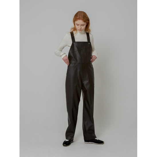 LEATHER OVERALL_BROWN