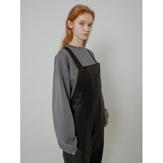 LEATHER OVERALL_BLACK