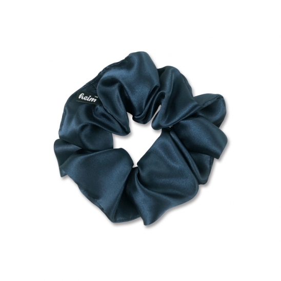 heim hair schrunchie_satin (NAVY)