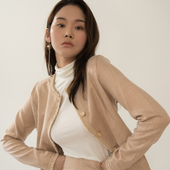 FOR TWEED JACKET GOLD