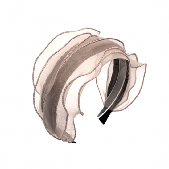 chiffon layered hairband (beige)