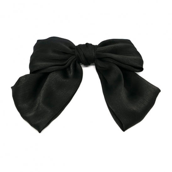 lovely big ribbon hairpin (black)