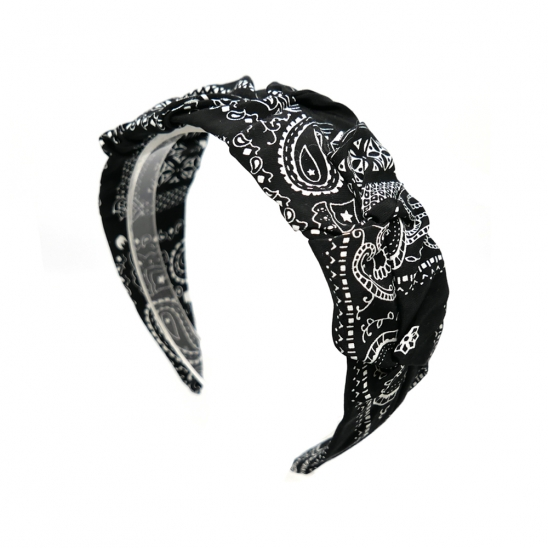 bandana shirring hairband (black)