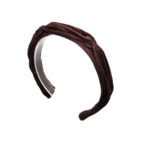 pleats point hairband (burgundy)