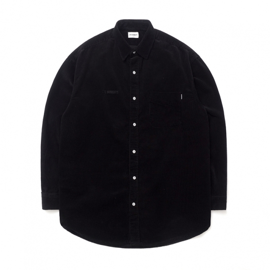 ND Corduroy Oversize Shirt (Black)