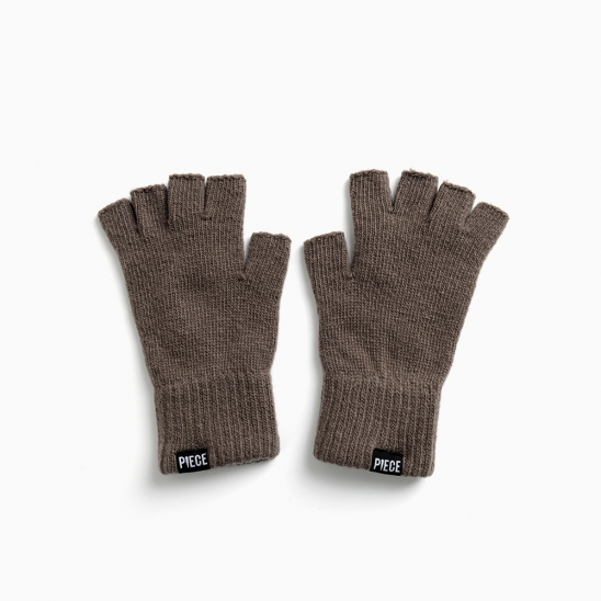 CASHMERE FINGERLESS GLOVES (CHARCOAL)