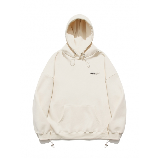 YK STRING OVER FIT HOOD-IVORY