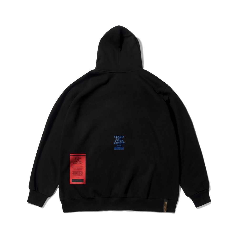 LSD OVERSIZED HEAVY SWEAT HOODIE BLACK