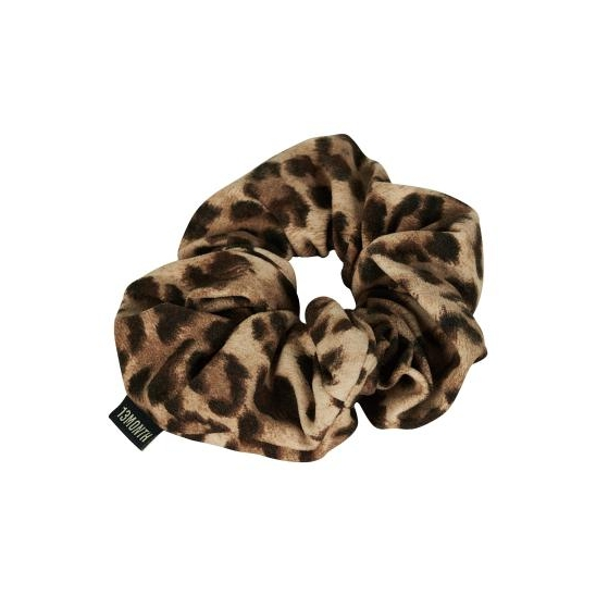 V2 LEOPARD SHIRRING HAIR BAND (BROWN)