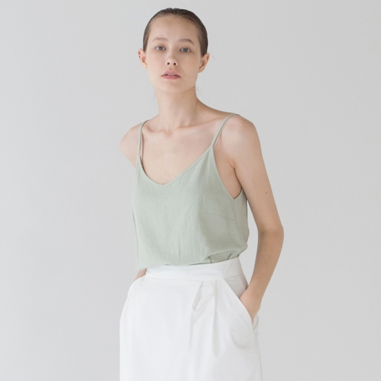 Linen Sleeveless - Mint