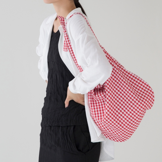 Check Daily Bag - Red