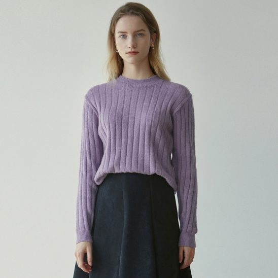 PULLOVER REGULAR KNIT_VIOLET