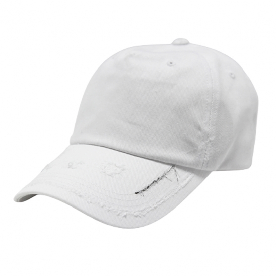 premium cotton 2 line side dis offwhite cap