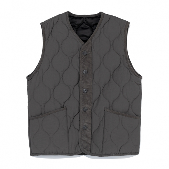 CB QUILTING VEST (CHARCOAL)