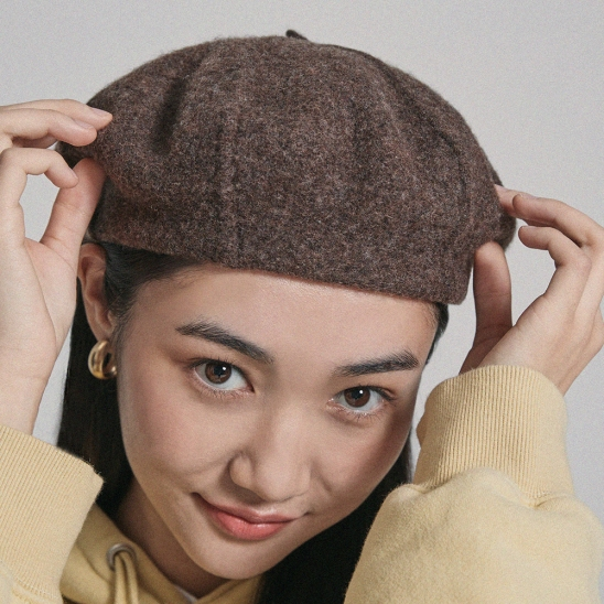 WOOL HUNTING CAP brown