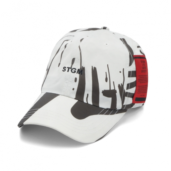 20 GRAFFITI BASEBALL CAP WHITE