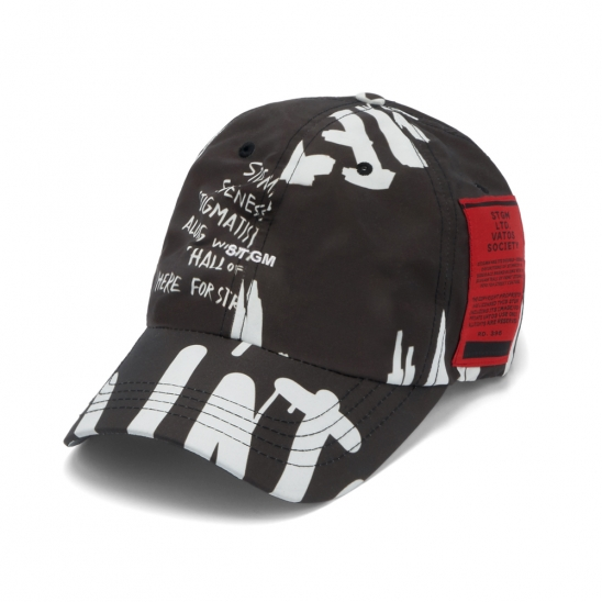 20 GRAFFITI BASEBALL CAP BLACK