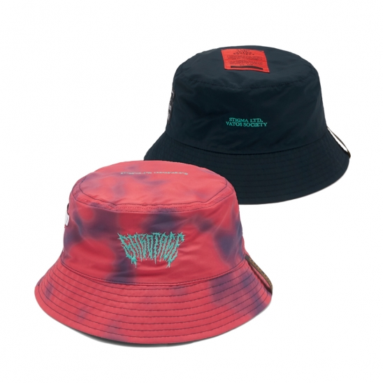 GAUSSIAN REVERSIBLE BUCKET HAT RED