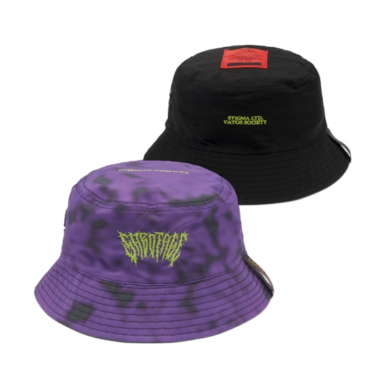 GAUSSIAN REVERSIBLE BUCKET HAT PURPLE