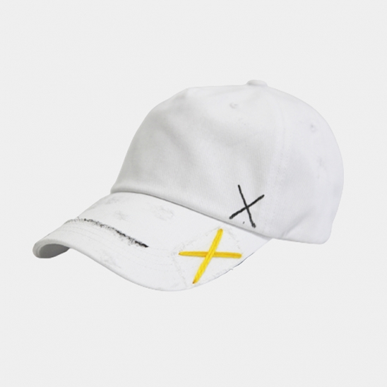 premium cotton side 4 line offwhite cap