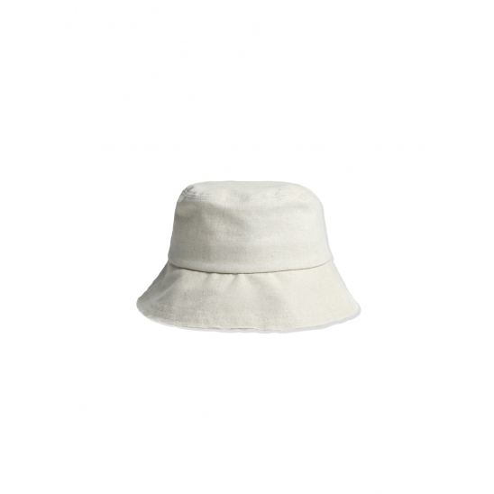 LINEN COTTON BUCKET HAT [IVORY]