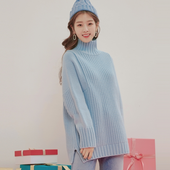 CASHMERE KNIT / BLUE
