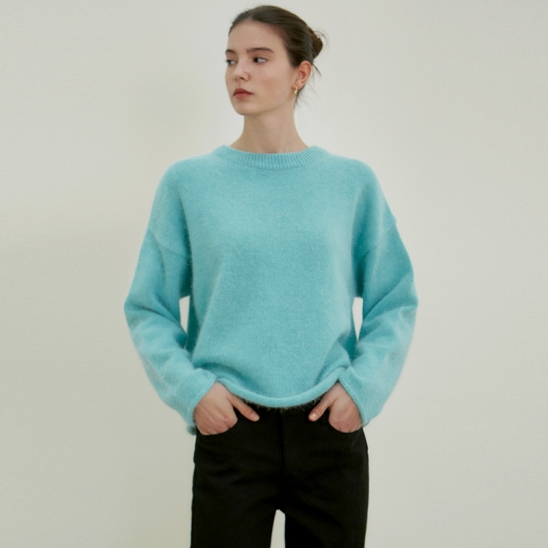 LOOSE CREWNECK SWEATER_MINT