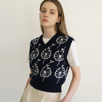 A FLOWER SEED VEST [3colors]