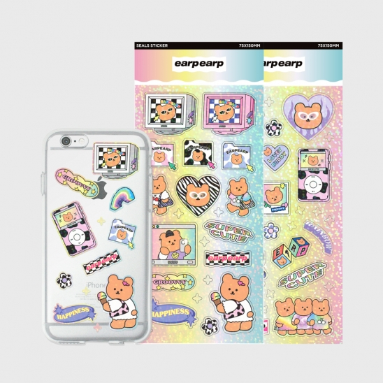 Jelly case sticker set(Retro covy)