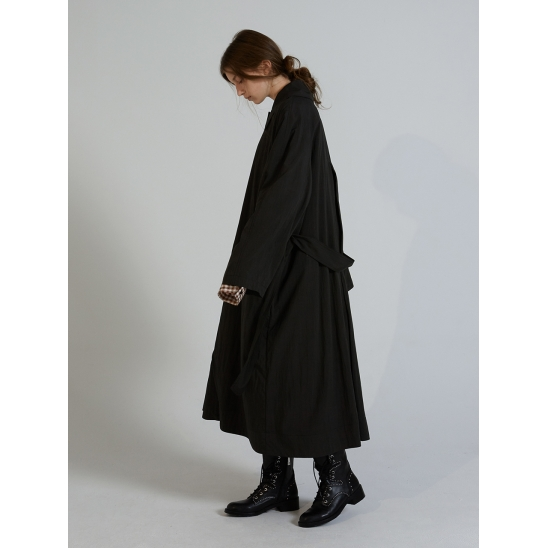 NATURAL TRENCH COAT_CHARCOAL
