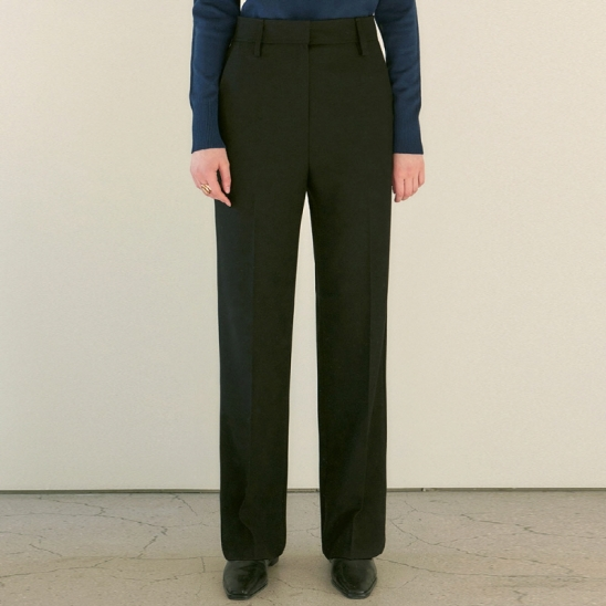 MANNISH STRAIGHT SLACKS_BLACK