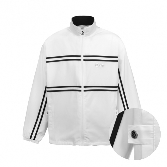 LINE TAPE TRACK JACKET-WHITE
