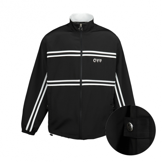 LINE TAPE TRACK JACKET-BLACK