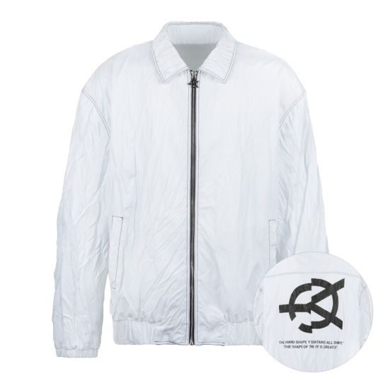 PLEATED JACKET-WHITE