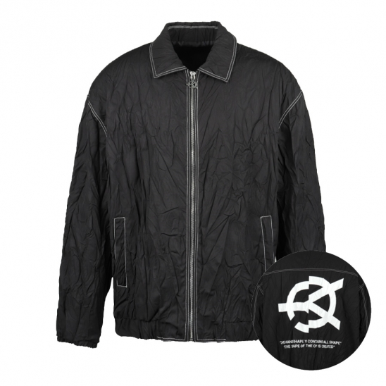 PLEATED JACKET-BLACK
