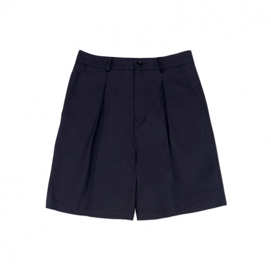 SP080_Wide Two-Tuck Shorts_Navy