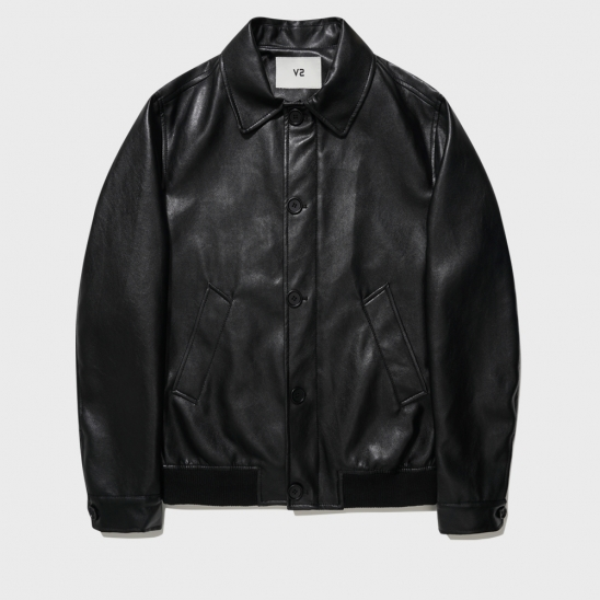 500-1# VEGAN LEATHER JACKET