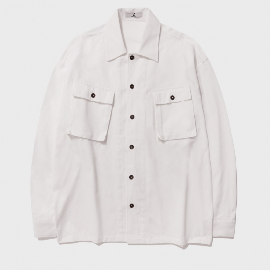 MULTI POCKET FATIGUE JACKET_IVORY
