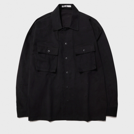 MULTI POCKET FATIGUE JACKET_BLACK