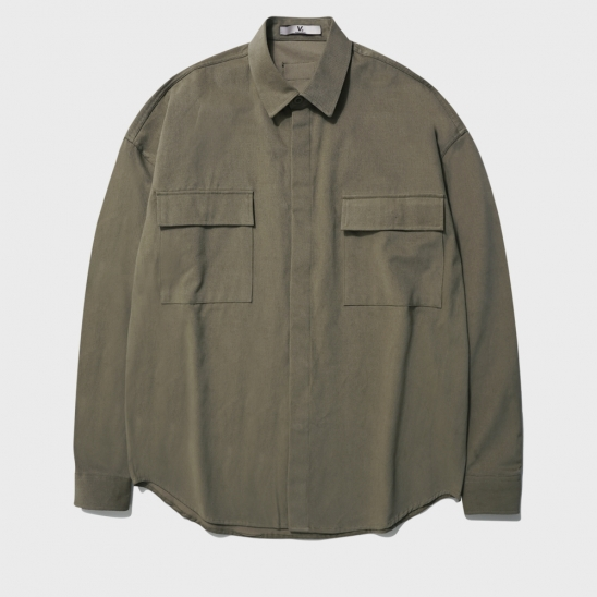 OVERFIT POCKET HIDDEN JACKET_KHAKI