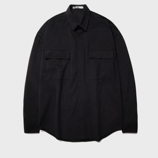 OVERFIT POCKET HIDDEN JACKET_BLACK