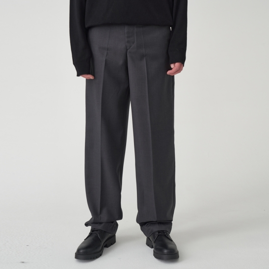 HERRINGBONE WIDE SLACKS_GREY