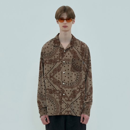 PATCH PAISLEY SHIRT / BEIGE