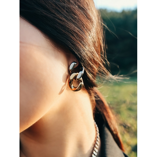 BOLD CHAIN EARRING SPECIAL COLOR