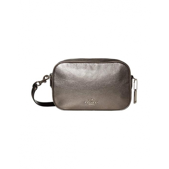 코치 Metallic Pebbled Leather Jes Silver Gunm