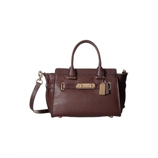 코치 Coach Swagger Carryall 27 In LI Oxblood