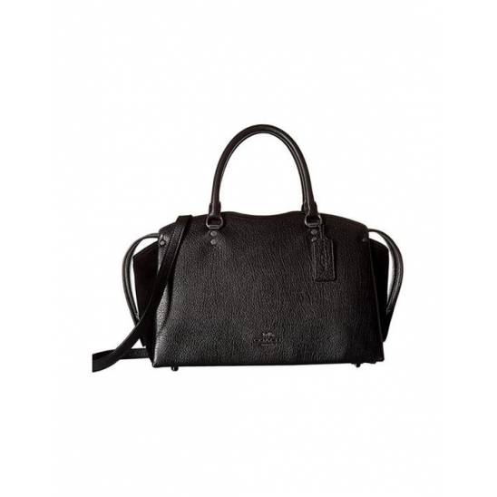 코치 Drew Satchel Black Gunmetal