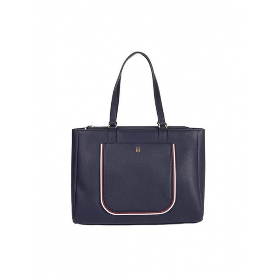 타미힐피거 Rosie II Tote Pebble Tommy Navy