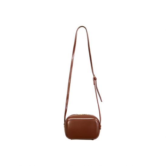 SOLID MINI BAG_BROWN